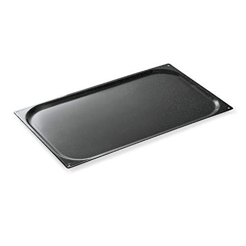 GN Blech Backblech mit BEIDSEITIGER Granit Emaille Beschichtung -GN1/1- GN Baking Sheet aus Stahl, ideal für Kombidämpfer, Backofen Dampfgarer