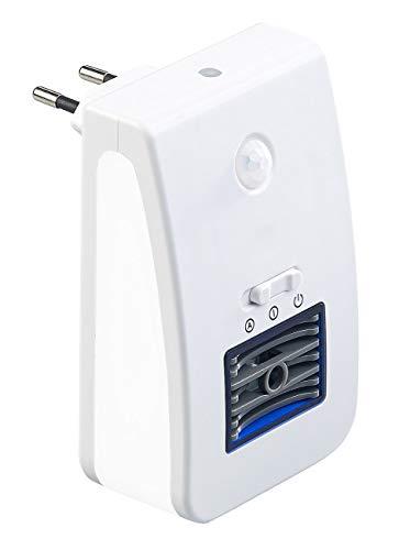 newgen medicals Ozongenerator: 2in1-Ionisator-Luftreiniger & Nachtlicht, PIR- & Lichtsensor, bis 20m² (Steckdose Lampe)
