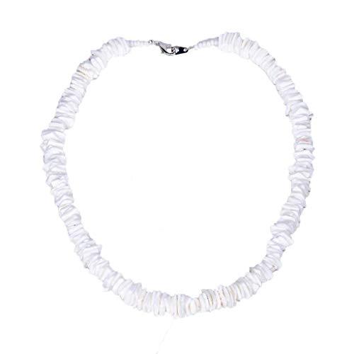 LILIHOT Damen Halskette Bohemian-Stil einfache kurze Halskette mit Muscheln handgefertigt süße Halsketten Strand Muschel Halskette Muschel Halsketten Schmuck für Frauen und Mädchen