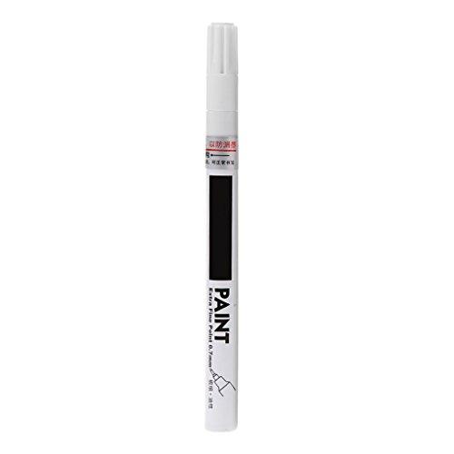 Paintbrush - Pennarello universale con punta extra fine da 0,7 mm, per lavori artistici fai da te bianco