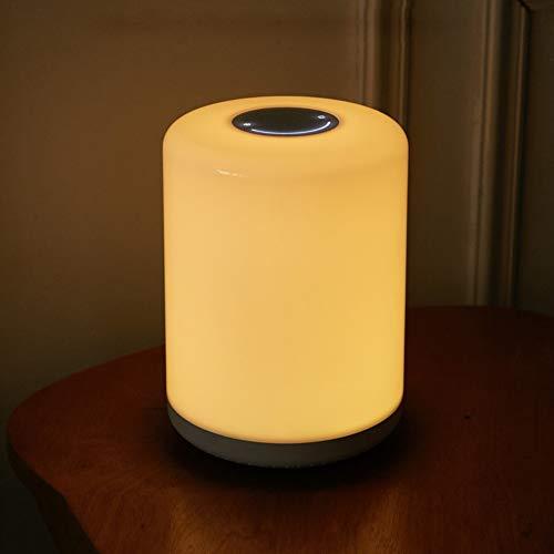 N/C Lampe De Table LED De Protection des Yeux De Chevet RGB AtmosphèRe ColoréE Veilleuse Fonction De Synchronisation Lampe d'alimentation pour BéBé Gradation Continue,Colorful