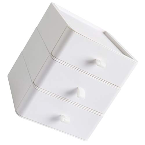 Cabilock Tiroir de Rangement de Bureau Boîte de Rangement pour Tiroir à Trois Couches en Plastique Organisateur en Plastique Boîte de Rangement pour Armoire de Bureau pour Bureau Table de