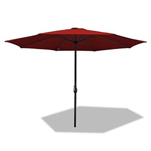 BMOT Ø 350 cm Aluminum Sonnenschirm Marktschirm Gartenschirm Terrassenschirm Sonnenschutz UV 40+