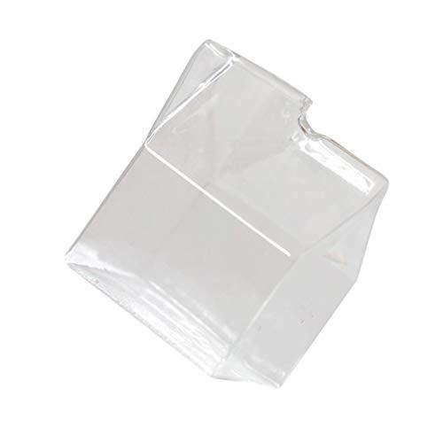 UPKOCH 350Ml Milchglas Tasse Mini Glas Milchkännchen Box Hitzebeständige Mikrowelle Frühstück Glas Milchbehälter Wasser Glas Tasse Becher Box