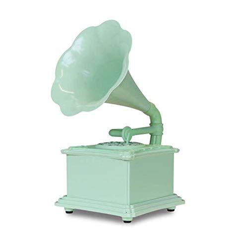 YLLYI Retro Bluetooth-Lautsprecher, Phonograph Hauptdekoration, Hauptdekoration Handwerk Geschenk Metall Geschenk Urlaub,Grün