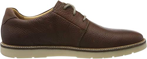 Clarks Grandin Plain, Zapatos de Cordones Derby para Hombre, Marrón (Tan Leather Tan Leather), 42 EU