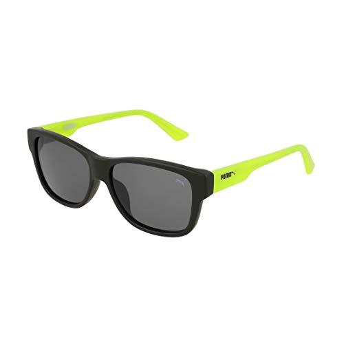 PUMA Jungen Junior Sonnenbrille, Green/Black/Grey, 49