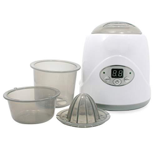 ABHF 5 in 1 Baby sterilisator Flaschenwärmer mit Trocknungsfunktion, Platz für bis zu 2 Babyfläschen, LCD-Anzeige, Warmhaltefunktion und Auftauen Dampfsterilisator,UK