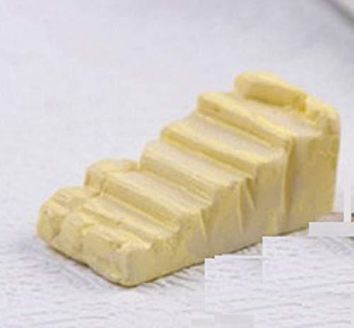 Boutique d'isacrea Miniature en RESINE : escalier Droit Imitation Pierre crème Longueur 2cm