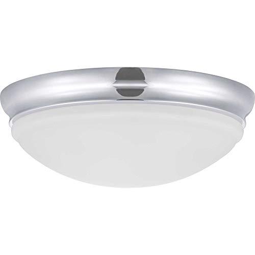 "Progress Lighting P350131-015-30 One-Light 15"" LED Flush Mount, Polished Chrome"