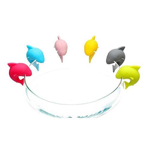 Colore Casuale Pixnor Vino Vetro Tag Ciondolo Striscia Marker identificativo Confezione da 12/