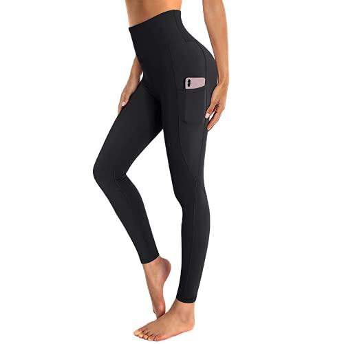 QTJY Leggings Deportivos de Cintura Alta para Mujer Pantalones de Yoga Leggings de Bolsillo de Entrenamiento de Moda Pantalones Deportivos de Yoga para Correr AS