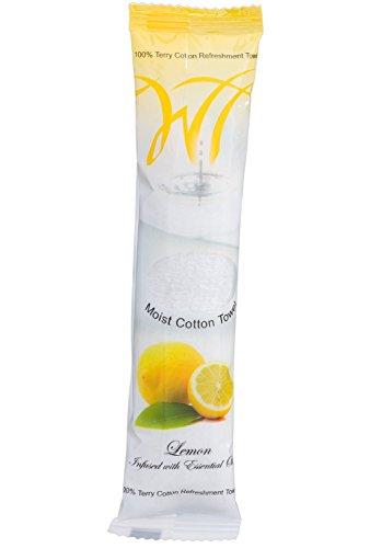Moist Cotton Towel - Lemon (Case of 50)
