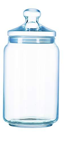 Luminarc - Bocal en Verre Club - Look Vintage - Pot à Fermeture Hermétique - Conservation Produits Secs - 100% Sain pour les Aliments - Sans Bisphénol A - Passe au Lave-Vaisselle - Contenance 1 l