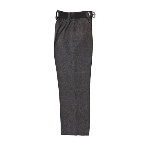 Pantalones de vestir para niños, color negro, gris, gris carbón y azul marino (talla grande) Gris gris