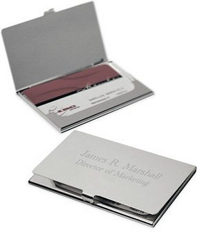 Business Card Holder Free Engraving by Business Card Holder