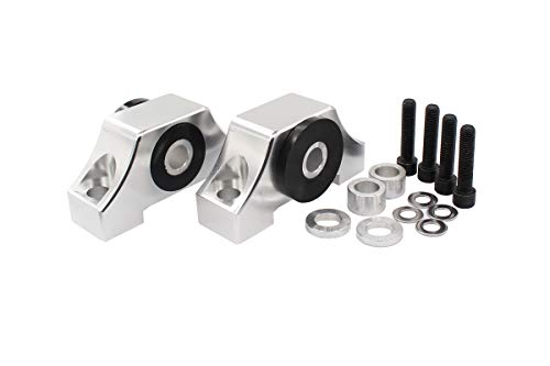 XtremeAmazing Sliver Engine Billet Motor Torque Mount Bracket kit for B16 B18 B20 D16