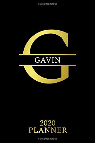 Gavin: 2020 Planner - Personalised Name Organizer - Plan Days, Set Goals & Get Stuff Done (6x9, 175 Pages) (Unique Planners For Gift, Band 450)