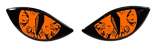 BIKE-label 910063VA - Pegatina 3D para casco de moto, color naranja neón