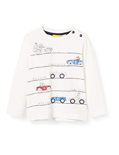 Chicco T-Shirt Manica Lunga Bimbo Camiseta de Tirantes, Blanco (Bianco 033), 74 (Talla del Fabricante: 074) para Bebés