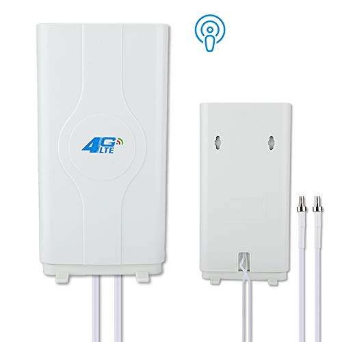 Mavis Laven 4G LTE antenne TS9 / CRC9 / SMA antenne 88DBi High Gain Mimo binnenversterker antenne aansluiting 800 MHz tot 2600 MHz voor ZTE-, Huawei-, Vodafone- en Netgear-aanpassingsmodellen, Crc9.