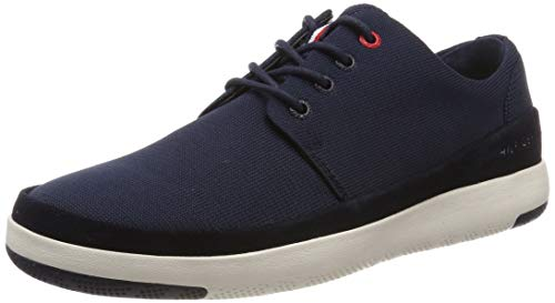 Tommy Hilfiger Herren LIGHT MATERIAL MIX LACE UP SHOE Oxfords, Blau (Midnight 403), 43 EU