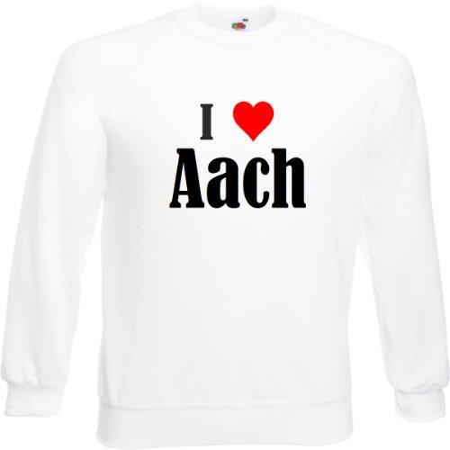 Reifen-Markt Sweatshirt I Love Aach Größe 2XL Farbe Weiss Druck Schwarz
