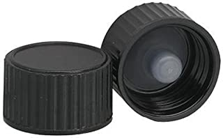 Wheaton Science Products W240116-2200 Black Phenolic Poly-Seal Screw Cap with PE-Cone Lined, 22-400 Cap Size, 27.94 mm Length (Pack of 200)