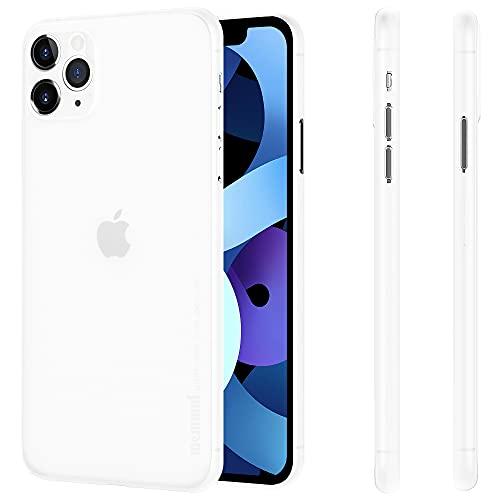 """memumi Coque pour iPhone 11 Pro 5.8"""", 0.3 mm Ultra Mince, Finition Matte [Résistant aux Chocs, Antidérapant, Anti-Rayures].Coque de Parfait Protective pour iPhone 11 Pro 5.8"""".Trans-Blanc (2019)"""