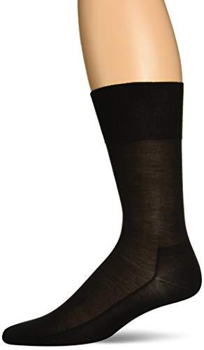 FALKE Herren Socken No. 4 Pure Silk - 92% Seide, 1 Paar, Schwarz (Black 3000), Größe: 43-44