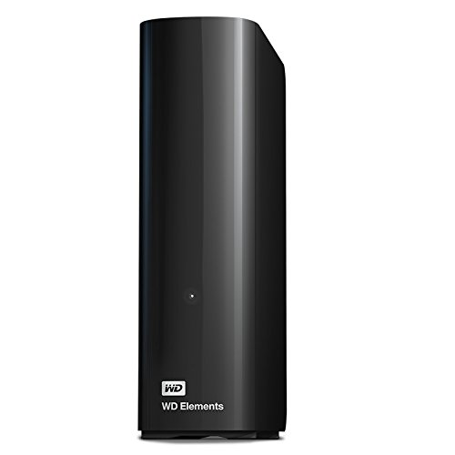 Western Digital WD Elements Hard Disk Esterno, Desktop, USB 3.0, 14 TB, Nero