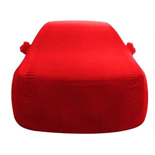 Volle Auto-Abdeckungen Wasserdicht Atmungs für Audi Serie - Sedan Abdeckung Material hoher Dichte im Freien Allwetter- Schnee- / Sunproof/Staubdicht Kratzfestes oder als Geschenk-red-Q2
