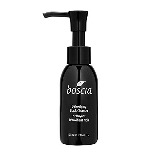boscia Detoxifying Black Charcoal Cleanser - Vegan, Cruelty-Free, Natural and Clean Skincare | Activated Charcoal and Vitamin C Warming Gel Face Cleanser, 50mL