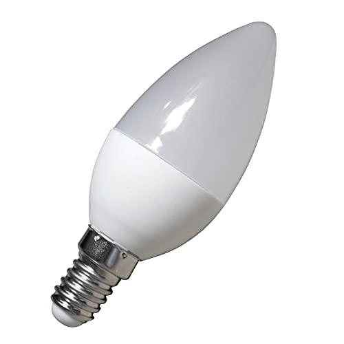 Pack 5x LED Vela C30, 7w. Color Blanco Neutro (4500K). 680 Lumenes, Casquillo fino E14. Equivalente a 60w tradicional. A++