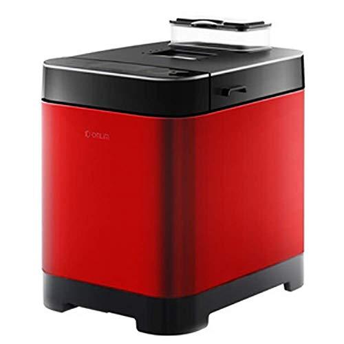 BBYT Automatisch Programmierbar Multifunktional Brotmaschine mit 18 Programme, und Automatisch Hefespender, Fruchtnuss Glutenfreie Einstellung,Rot