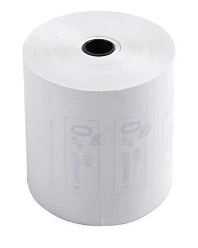 Exacompta 43816E Packung (mit 10 Kassenrollen, 1-lagig thermisch hohe Auflösung, ideal für Kassen, 55g/qm, Breite: 80mm, Durchmesser Kern: 12mm, Länge: 76m) 1er Pack (1 x 10 Stück) weiß