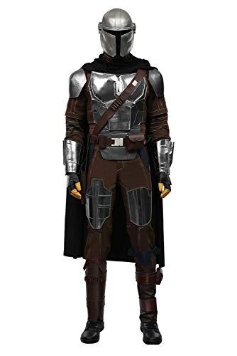 Bilicos Disfraz de mandalo de la guerra de las Galaxias, disfraz de Djarin, disfraz para Halloween, carnaval, cosplay, para hombre, XXXL