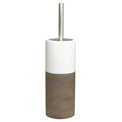 Sealskin Escobillero Doppio, 10.1 x 10.1 x 38.3 cm, Porcelana, Marrón