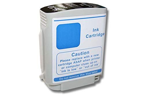 vhbw Cartucho de Tinta Compatible con HP DesignJet 100, 100 Plus, 10PS, 110, 110 Plus, 110 Plus NR, 111, 20PS, 500 Impresora - Negro, 69ml