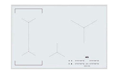 AEG - Placa de inducción IKE 84443 FW de cristal biselado blanco...