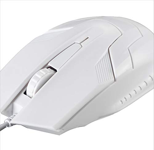 ZNQPLF USB Souris Filaire 1200dpi Souris Gaming Bureau Accueil Bureau Souris for Ordinateur Portable PC (Color : White)