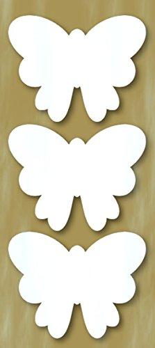 Zita's Creative Styropor Figuren Set, 8-10cm - Schmetterling 3, Dekoset, Bastelset, Wanddeko, Dekorset