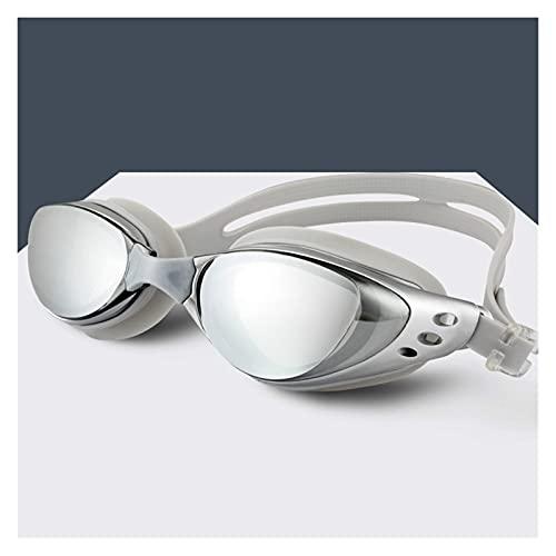 CHENGCHAO Gafas de natación Gafas de natación de Alta definición Anti-Niebla Profesional Impermeable Silicona Arena natación Gafas Adultas Hombres Hombre natación Gafas Proteger (Color : Gray)