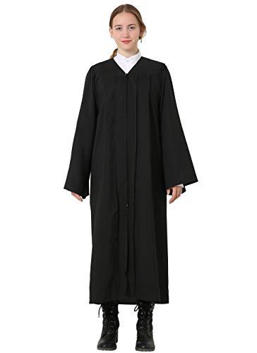 GraduatePro Graduación Toga y Birrete Adulto 2020 Universidad Traje Hombre Mujer Universitario PhD Master Doctorado Secundaria Negro 57