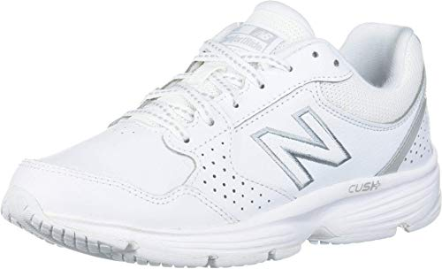 New Balance Women's 411 V1 Walking Shoe, White/White, 8.5 M US