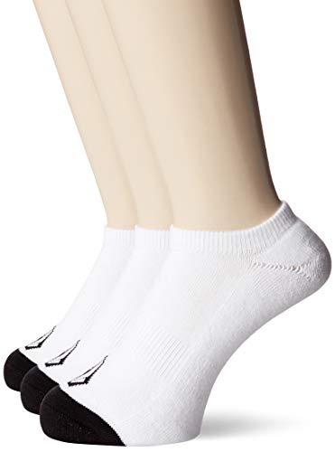 Volcom Stone Ankle 3Pk Calcetines, Hombre, White, Talla Única