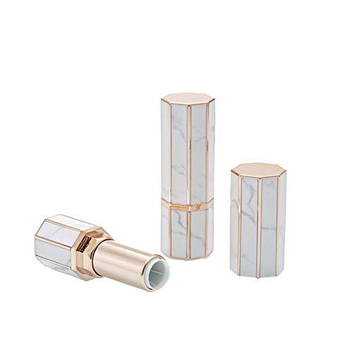 2pcs Lippenstift Rohre,Tukistore DIY nachfüllbar leer Lip Balm Tube Lippenstift leer Rohr Flasche...
