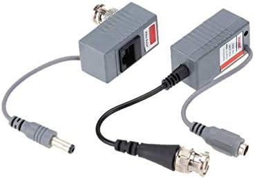 1 paar CCTV Coax BNC Video DC Power RCA Balun Transceiver naar CAT5e 6 Consumentenelektronica Producten en reserveonderdelen Zwart