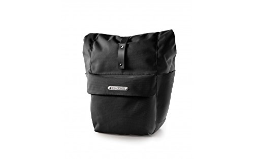 Lowest Price! Brooks Suffolk Rear Travel Pannier with Roll Top, Black/Black