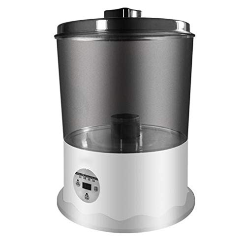 8.5L huishoudelijke groenten en groentewasmachine ultrasone ozonsterilisator, aparte wasmand, microcomputer (Color : Black)